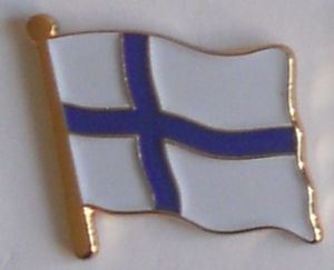 Finland Country Flag Enamel Pin Badge